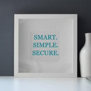 smart, simple, secure